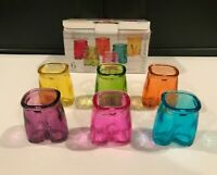NEW Circleware PANTS UP multi color shot glasses Six in a Box