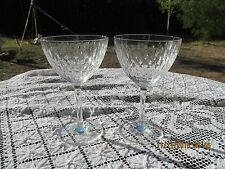 """2 CRYSTAL BACCARAT PARIS (CUT) WATER GOBLETS or wine glasses 6 1/4"""" x 3 3/4""""""""d"""