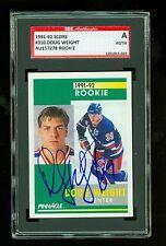 Doug Weight Autographed 1992 Score Rookie Card 310 Rangers SGC Authentic Encased