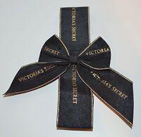 VICTORIA'S SECRET BLACK GOLD BOW GIFT SET DECOR WRAPPING BAND WRAP CUTE RIBBON