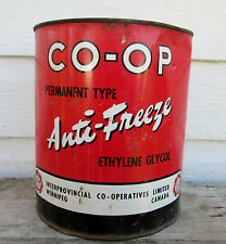 VINTAGE CO-OP 1949 ANTI-FREEZE TIN IMPERIAL GALLON OIL TIN ADVERTISING WINNIPEG