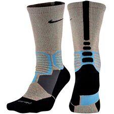 NIKE Hyper Elite Crossover Basketball Crew Socks Aqua Black YOUTH 3Y- 5Y   SMALL