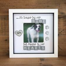 Remembrance Bereavement  Pet Dog Cat Scrabble Rainbow Bridge  Photo Frame