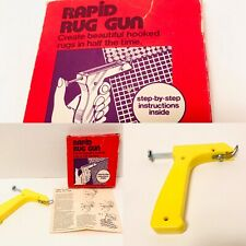 Rapid Rug Gun - Bandwagon Latch Hook Gun Instructions - Boxed 1950s Hong Kong