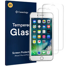 [2 PACK] For iPhone 8 Plus Caseology® Tempered Glass HD Clear Screen Protector