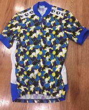 Pearl Izumi Men's Medium Blue Short Sleeve 1/4 Zip Jersey Cycling Biking Shirt
