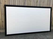LP Morgan Galleria projector screen hand flocked velvet fixed frame