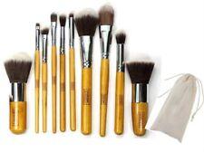 10pc Bamboo Eco Friendly Cruelty Free Cosmetic KABUKI Make Up Brush Set & Pouch