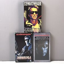 Terminator 2 Judgement Day 3 Rise Machines VHS Video Tape Lot Set Schwarzenegger