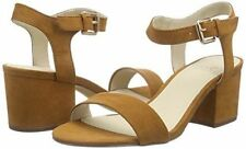 Faux Suede Sandals Patternless Casual Heels for Women