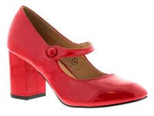 Calzado de mujer de color principal rojo de charol talla 37