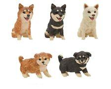 Folk Art Plastic Wood Craved Dog Shiba Inu Puppy Figure 1 Random Toy