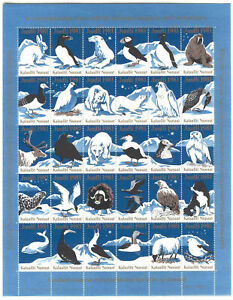 Sheet F57m Greenland Special Christmas 1981 Birds Animals