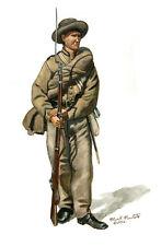Mark Maritato Civil War Confederate Infantry Soldier 1862 Signed Paper Art Print