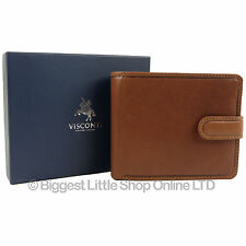 Mens Quality Vicenza Italian Leather Wallet in Tan by Visconti Gift Boxed