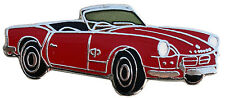 Triumph Spitfire MkI/II car cut out lapelpin - Red