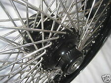 """18"""" X 3.50""""-80 SPOKE FRONT WHEEL HARLEY BLACK PC FLSTF 2008-2017 FATBOY WITH ABS"""