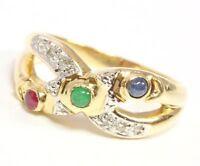 ♦♦♦♦14kt 585 Damen Gold Ring Diamantring Diamant Rubin Smaragd Saphir Safir♦♦♦♦