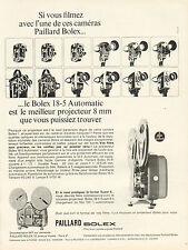 Publicité Advertising 1965  PAILLARD BOLEX caméra 18-5 Automatic 8 mm