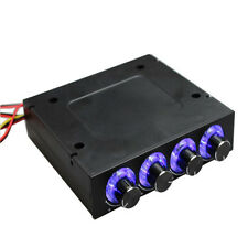 """3.5"""" Computer Case CPU HDD 4 Channel Fan LED Speed Controller Control Cooling"""
