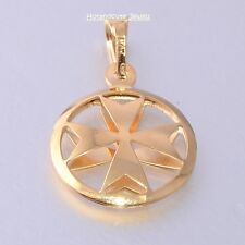 Malta MALTESE CROSS Jewelry Hallmarked 9ct 9k Gold 3D Pendant Charm Genuine 375