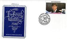 St VINCENT GRENADINES 1986 ROYALWEDDING $2 FIRST DAY COVER SHS