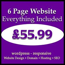 Website design - Web domain and hosting included - Mobile friendly web design