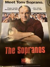 "sopranos poster- XL 60""x40"". Tony Soprano, James Gandolfini"