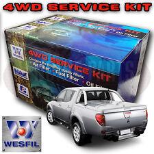 Wesfil 4x4 Air Oil Fuel Filter Kit Mitsubishi Triton ML 3.2L TD Diesel 4M41