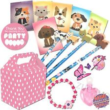 Childrens Pre Filled Pink Polka Dot Girls Party Bags Box Birthday Wedding Favors