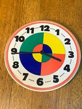 Neat Vintage Ikea Colorful Pie Shapes Wall Clock W. Germany / Netherlands