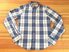 "Hollister Shirt Long Sleeve Size S Small Check 100% Cotton 20"" Chest RN102573"