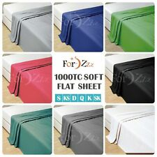 1000TC Soft Top Flat Sheets Single/King single/Double/Queen/King/SK sheet Bed