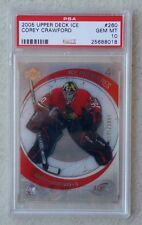 PSA 10 GEM MINT COREY CRAWFORD Rc 2005-06 Upper Deck Ice Premieres 0945/2999