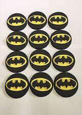12 x BATMAN CUPCAKE TOPPER FONDANT,ICING SUGAR EDIBLE BIRTHDAY PARTY