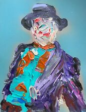 "ORIGINAL Abstract Joker Movie 89 Jack Nicholson Comic Wall Art Painting 11x14"""