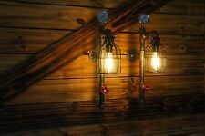 Qty 2- (1 pair)  Edison Age Wall Sconces,  Industrial Lights, Vintage Pipe Light