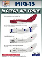 H-Model Decals 1/72 Mikoyan MiG-15 in CzAF, Pt.2 # 72014