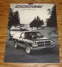 Original 1991 Dodge Ram Truck Trailer Towing Guide Sales Brochure 91