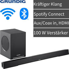 Grundig WiFi Soundbar Sound System Subwoofer Heimkino Lautsprecher Bluetooth NEU