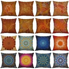 "18"" Mandala Print Cotton Linen Pillow Case Cushion Cover Sofa Home Decor"