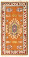 "Hand-knotted Carpet 2'1"" x 4'0"" Royal Kazak Burnt Orange Wool Rug"