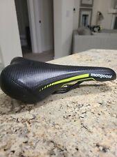 New Mongoose Black/Neon Green Bike Seat Saddle.