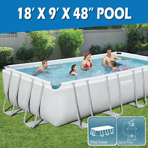 Bestway Above Ground Swimming Pool Steel Frame Sand Filter Pump 18FT 5.49x2.74M