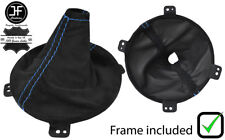 BLUE STITCH SUEDE GEAR BOOT + PLASTIC FRAME FOR TOYOTA GT86 SUBARU BRZ 12-18