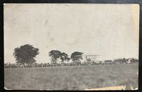 1911 Dayton OH USA RPPC Real Picture Postcard Cover Wright Brothers Training
