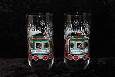 Coca-Cola North Pole Train Christmas glasses - Set of Two