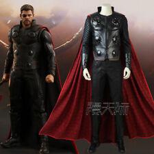 Costume da supereroe sostegni Thor Halloween Red Cape Martello Uomini Adulti Bambino