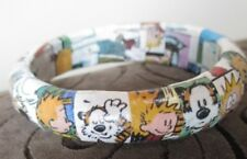 Plastic Crafted Calvin & Hobbes  Chunky Bangle Bracelet