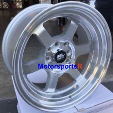 MST Wheels Time Attack Rims 15x8 +0 Silver 4x114.3 85 87 Toyota Corolla GTS AE86